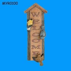 Vivid Bird Resin Garden Printable Welcome Sign