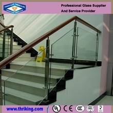 Safe clear tempered glass fence panels