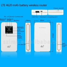 Pocket LED display 4G LTE wireless wifi router 5 Modes 13 Bands