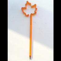Maple Leaf Straw Plastic Banner Ball Pen