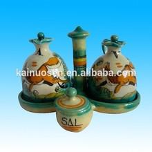 spanish ceramic cruet set