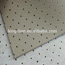 Perforate pvc car interior leather