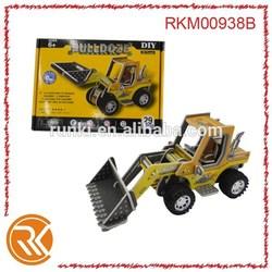 Educational puzzles toys 3D bulldozer eva puzzles