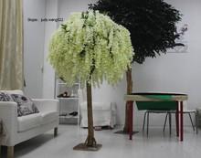 High quantity cream wedding table tree centerpieces artificial blossom tree for wedding tree decoration