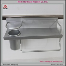 Qualified Silver color aluminum alloy bathroom and kitchen accessories and hanging handle V