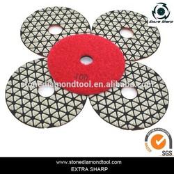 100mm triangle grain diamond polishing pad for nature stone