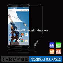Wholesale price !matte touch fingerprint resistant screen protector for google nexus 6 mobile phone
