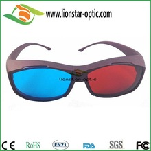 Classic Anaglyphic Plastic Red Cyan Thicken Lens 3D Glasses for red blue 3d movie