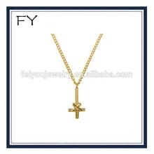 Custom Gold Chain 24K Star Cross Necklace