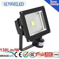 SAA CE 30w pir motion sensor led flood light 10w 20w 30w 50w with IES File