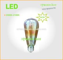 new 2000-2200K ST64/57 led filament bulb,6W 360degree/b22/E27 led filament lamp,
