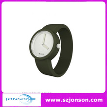 Wholesale fahion interchangeable silicone strap watch with japan movement and 2 hands