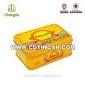 De metal caja de la lata de galletas para la barra de chocolate/de la boda el artículo de regalo: no hay ningún cd- 034