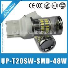 New 48W t20 w21/5w 7443 led, 420LM White 3014smd 11561157 7440 7443 w21/5w car bulb break light DC12- 24V Led bulb lights