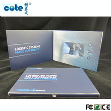"factory supply audio 4.3""  tft/lcd video greeting cards with 1GB memory USB for decorative"