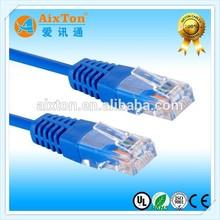 OEM colorful 4 pair stranded utp rj45 to rj45 CAT5E cable