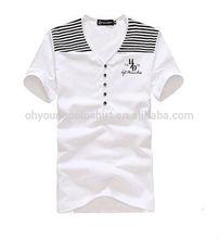 Popular v-neck stripe fashionable short sleeve t-shirt for men