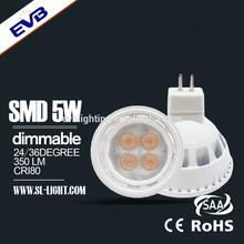 Hot!!! 5W SMD MR16 AC/DC 12v led spotlight