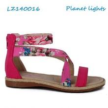 kid flat sandals new design 2013 cheap fashion girls sandals