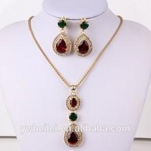 Indian Polki Bridal Jewelry Set Imitation Jewelry Emerald Necklace Set