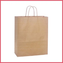 china manufacturer twisted handle custom brown paper bags