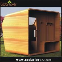 outdoor square 4 person sauna room
