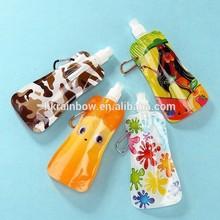 colorful printed reusable soybean/milk/juice drink spout pouch bag