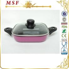 MSF 20cm pink square carbon steel fry pan