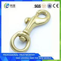 Dog Swivel Single Brass Plating Snap Hook