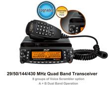 Vehicle Radio Car Radio TYT TH-9800 VHF50W UHF35W 800CH Quad Band Transceiver Cross-band Dual Display screen Mobile Radio th9800