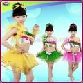 Último diseño Popular niños de baile latino trajes de las niñas de navidad ropa de danza moderna venta al por mayor precio