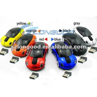 1600dpi 3D USB 2.4G Wireless Car Mouse