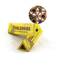 Yellow Kaleidoscopes Promotion Special Design Triangle Outdoor Paper Kaleidoscope