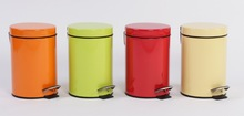 Stainless steel soft close dustbin colorful dustbin pedal bin