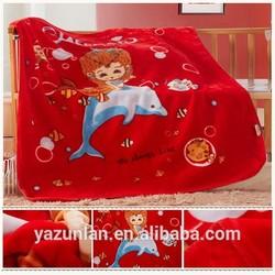 hot sale!!!super soft cartoon printing children blanket