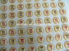 Adhesive make epoxy resin 2 alphabet letter sticker