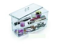 Plastic cosmetic organizer,acrylic make up organizer, clear cube makeup organizer