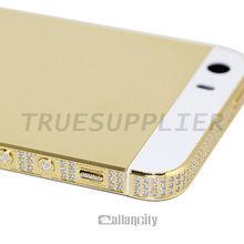 Luxury 24kt limit edition for iphone 5 back housing with diamond