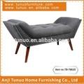 Sala de estar, dormitorio chaise, forma de barco, asiento de patchwork, botones y clavos, tb-7863s