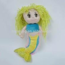 3 colors big eyes plush mermaid doll