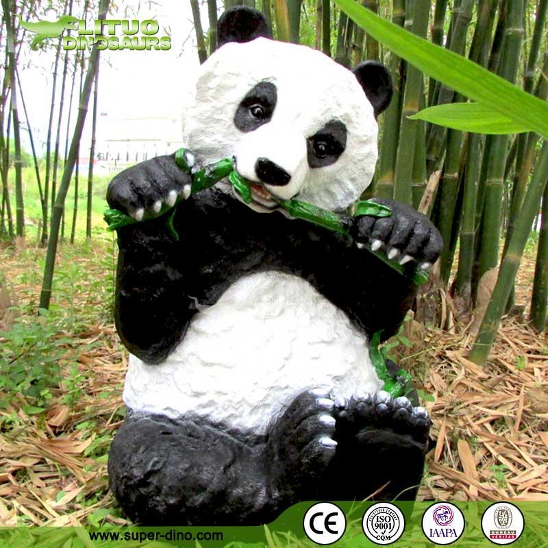 D coration vie taille panda jardin animaux r sine - Animaux de jardin decoration ...