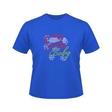 Santa Baby crystal iron on cotton t-shirts at cheap price