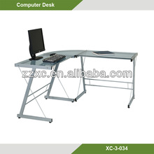 High gloss computer desk for two computers exporter XC-3-034