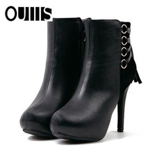 half black boot high heels high-grade style PF3173