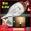 2014 nuevos productos de ahorro de energía e14 led lámpara de la vela para decoración de la casa