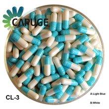 Quick Dissolving FDA Certificated size 0 Blue White Empty Gelatin Capsule