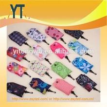 Tote foldable shopping bag,reusable shopping folding nylon bag