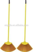 yellow plastic broom with telescopic handle