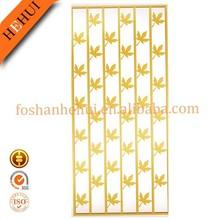Golden Mordern Laser Cut Indoor Decorative Metal Screens YY-C611