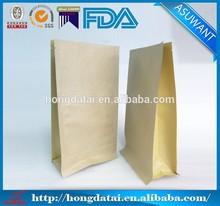 2014 quad seal brown kraft paper bag manufacturers